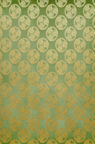 6274 Green and Gold Celtic Circle St Patricks Backdrop - Backdrop Outlet
