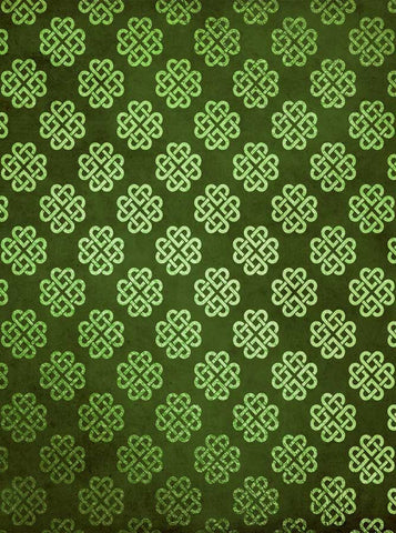 6275 Green Grunge Celtic Hearts St Patricks Backdrop - Backdrop Outlet