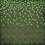 6279 Damsk Backdrop Bright Green Falling Clovers Irish Backdrop - Backdrop Outlet