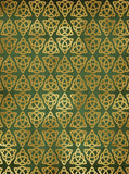 Green and Gold Celtic Triangle St Patricks Backdrop - 6280 - Backdrop Outlet