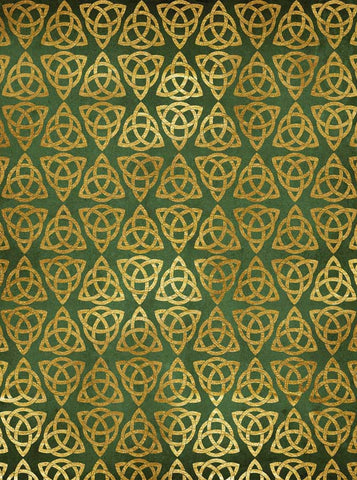 6280 Green and Gold Celtic Triangle St Patricks Backdrop - Backdrop Outlet