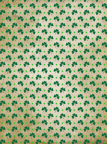 6282 Three Leaf Clover Pattern Green Backdrop - Backdrop Outlet