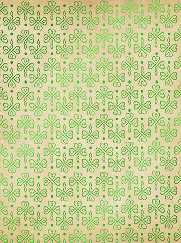 6284 Bright Green Celtic Heats Pattern St Patricks Backdrop - Backdrop Outlet