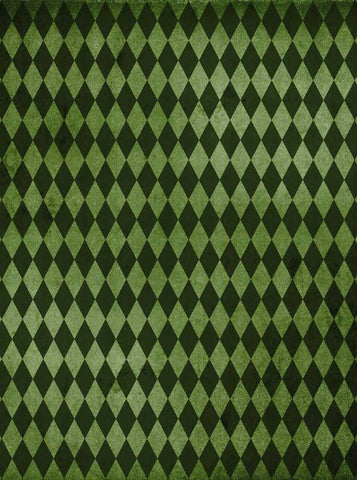 6286 Diamond Dark Green Patterned Irish Backdrop - Backdrop Outlet