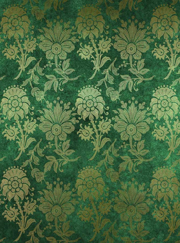 6289 Flower Floral Pattern Green Cement Irish Backdrop - Backdrop Outlet