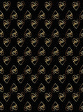 6294 Love Gold Hearts Black Background Backdrop