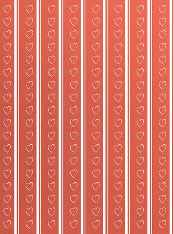 6295 Coral Background Hearts and Stripes Backdrop - Backdrop Outlet