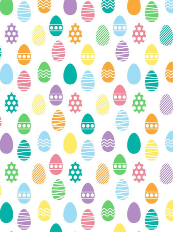 6296 Pastel Pattern Background Easter Eggs Backdrop - Backdrop Outlet