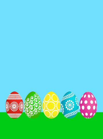 6299 Five Easter Egg Backdrop - Backdrop Outlet