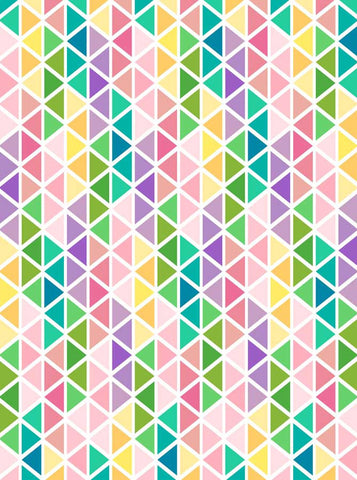 6304 Geometric Triangles Pastel Easter Backdrop - Backdrop Outlet