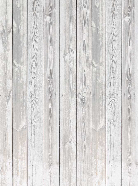 Gray White Grunge Wood Floor Backdrop - 6308 - Backdrop Outlet