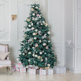 Christmas Tree Printed Backdrop Modern Walls and Marble Floors Background - 6375 - Backdrop Outlet