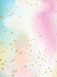 Watercolor Pastel Rainbow Gold Start Printed Backdrop - 6383 - Backdrop Outlet