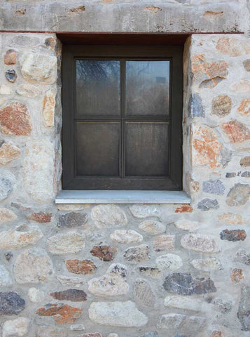 6705 Stone Wall Window Backdrop - Backdrop Outlet