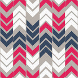 6710 Arrow Stripe Deep Pink And  Blue Backdrop - Backdrop Outlet