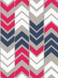 6710 Arrow Stripe Deep Pink And  Blue Backdrop - Backdrop Outlet - 2