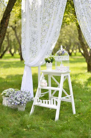 6717  Field Garden Wedding, Children, Romantic  Printed Backdrop
