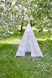 6721 Teepee Tent In The Field Camping Printed Backdrop - Backdrop Outlet