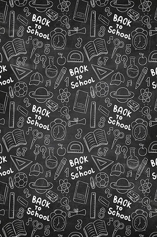 6727 Back to School Chalkboard Backdrop - Backdrop Outlet