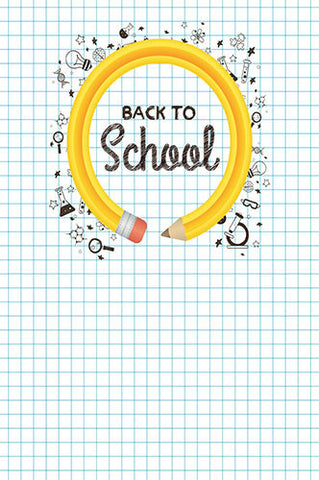 6729 Back to School Chalkboard Grid Backdrop - Backdrop Outlet