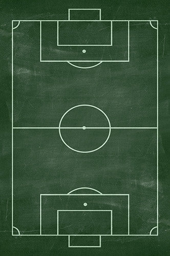 6732 Soccer Field Chalkboard Green Backdrop - Backdrop Outlet