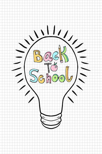 6733 Back to School Grid Bulb Backdrop - Backdrop Outlet