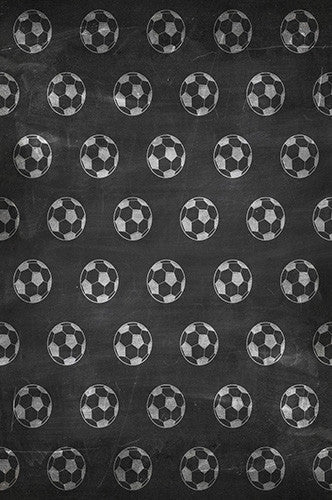 6735 Soccer Ball Chalkboard Backdrop - Backdrop Outlet