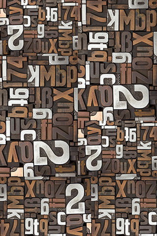 6744 Wood Letters and Numbers Photography Backdrop - Backdrop Outlet