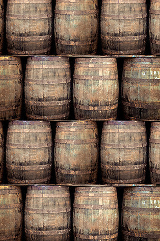 6748 Old Wood Barrels Photography Backdrop - Backdrop Outlet