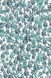 6757 Teal Leaves Printed Backdrop - Backdrop Outlet