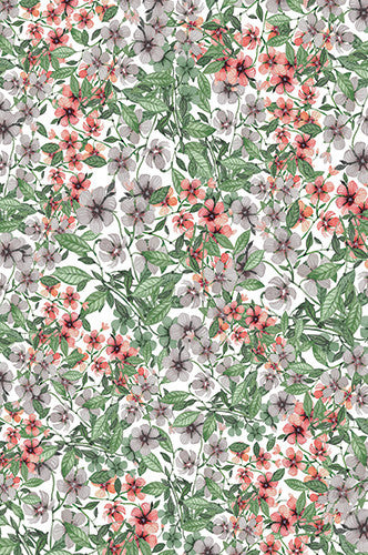 6758 Blooming Flower Printed Background - Backdrop Outlet