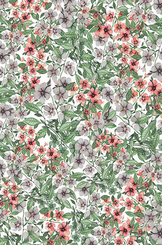 6758 Blooming Flower Printed Background