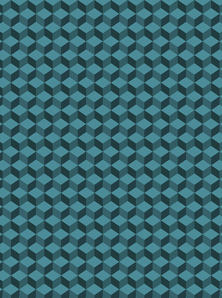 6761 Hexagon Teal Photography Backdrop - Backdrop Outlet