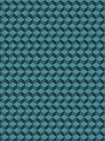 6760 Cubic Teal Background - Backdrop Outlet