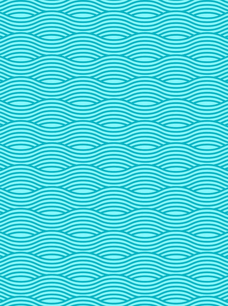 Aqua Oceanic Wavy Printed Background - 6765 - Backdrop Outlet