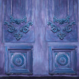 6773 Elegant Purple Blue Abstract Doors Printed Backdrop - Backdrop Outlet