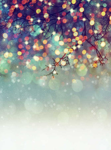 6774 Mistletoe Bokeh Printed Backdrop - Backdrop Outlet