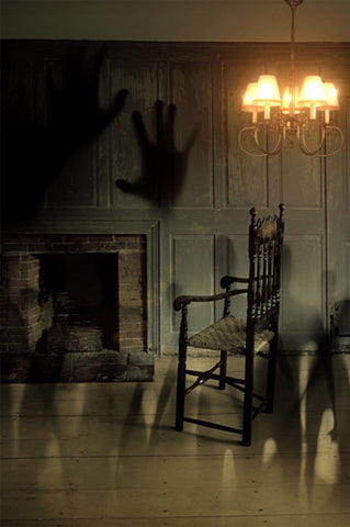 6784 Haunted Creepy Ghost Chimney Room Printed Backdrop - Backdrop Outlet
