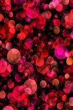 6800 Red and Pink Christmas Bokeh Backdrop - Backdrop Outlet