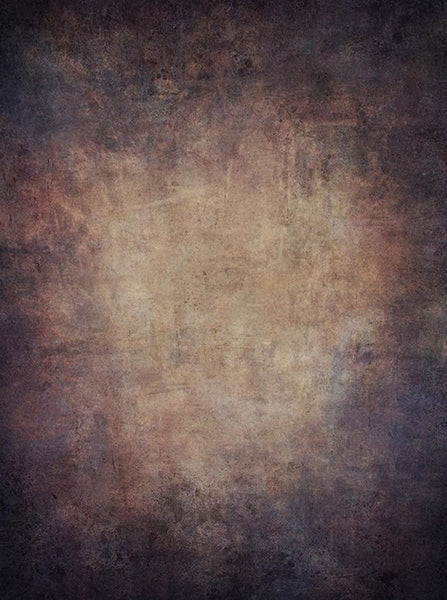 Printed Old Masters Blues And  Pinks On Tan Textured Backdrop - 6920