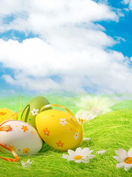 Easter Grass Eggs Backdrop - 7034 - Backdrop Outlet