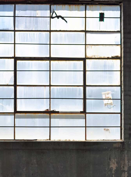 7042 Warehouse Window Backdrop - Backdrop Outlet