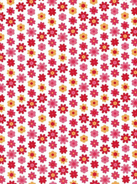Red Pink Flowers Backdrop - 7218 - Backdrop Outlet