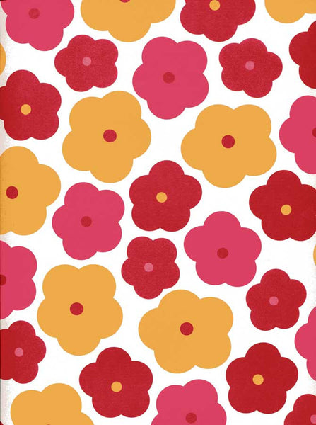 7221 Red Yellow Flower Backdrop - Backdrop Outlet