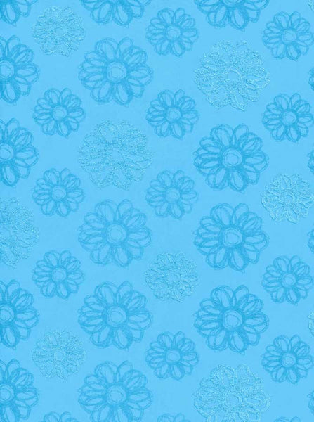 7224 Blue Flower Backdrop - Backdrop Outlet