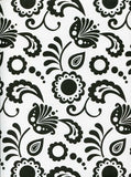 Black And White Floral Backdrop - 7227 - Backdrop Outlet