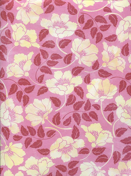 Pink Ivory Flowers Backdrop - 7237 - Backdrop Outlet