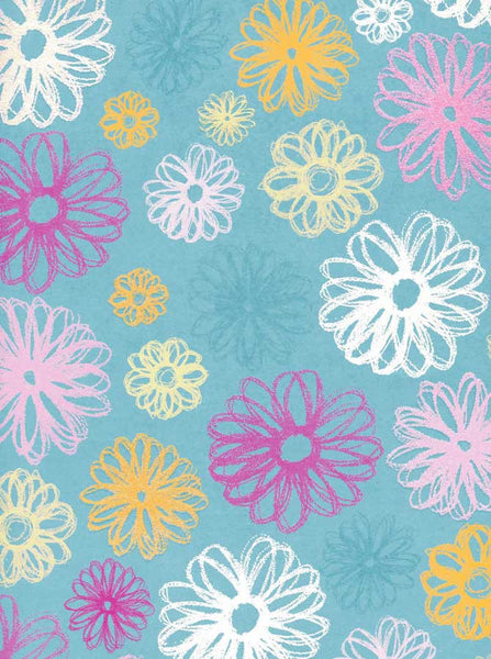 7245 Blue Pattern Backdrop - Backdrop Outlet