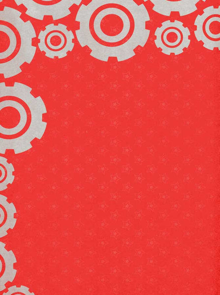 7260 Red Gears Backdrop - Backdrop Outlet