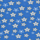 Blue Stars Backdrop - 7263 - Backdrop Outlet